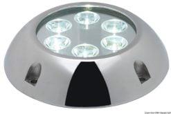 Lampa podwodna do oświetlania podwodzia / pawęży rufowej / trapów - Underwater spot light w/ 6 white LEDs - Kod. 13.284.01 9