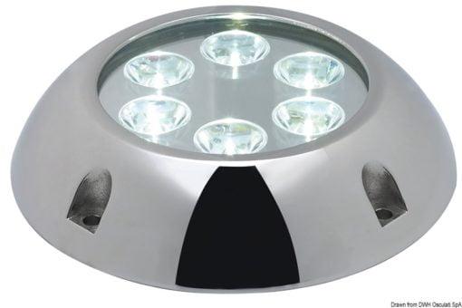 Lampa podwodna do oświetlania podwodzia / pawęży rufowej / trapów - Underwater spot light w/ 6 white LEDs - Kod. 13.284.01 6