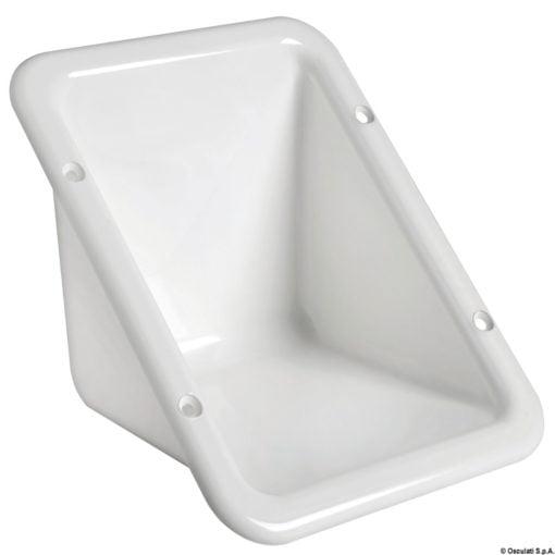 Schowek do zabudowy z tworzywa sztucznego przeznaczony do osadzenia korka wlewu - Flush plug housing white plastic - Kod. 20.899.00 3