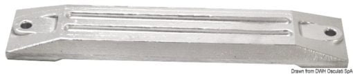 Płyta 75/225 HP - Plate anode HONDA 75/225 HP - Kod. 43.424.07 3