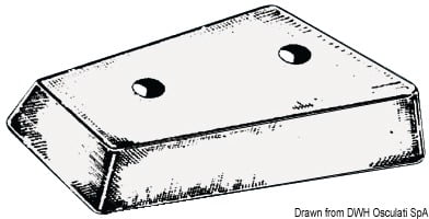 Anoda stopy Mercury/Blackhawk - Mercruiser leg anode - Kod. 43.424.03 3