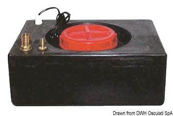 Zestaw do uniezależnienia urządzenia do lodu od sieci wodnej. Pobiera wodę z własnego oddzielnego pojemnika. - Kod. 50.840.01 3