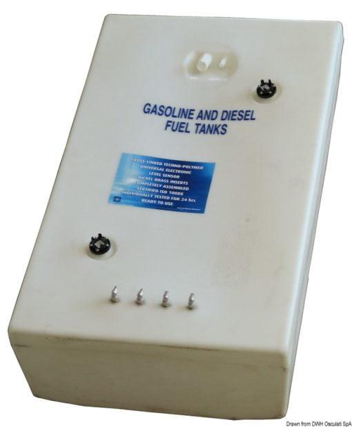 Zbiornik paliwa typu benzyna/ ropa naftowa z polietylenu siatkowego. - Pojemność l 767 - Kod. 52.032.24 4