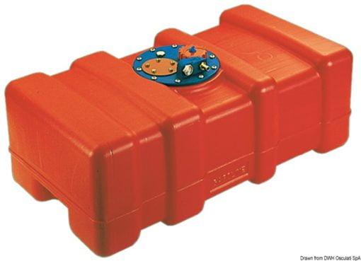 Zbiornik paliwa wykonany z pomarańczowego polietylenu eltex, z homologacją CE - Eltex fuel tank 120 litres - Kod. 52.033.25 3