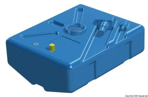 Zbiornik paliwa typu benzyna/ ropa naftowa z polietylenu siatkowego. - Pojemność l 63 - Kod. 52.035.09 3