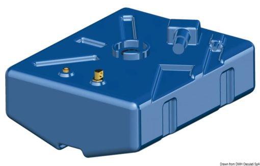 Zbiornik paliwa typu benzyna z polietylenu siatkowego. - Serbatoio Polietilene 315 l benzina/diesel - Kod. 52.039.08 7