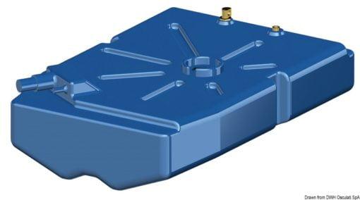 Zbiornik paliwa typu benzyna/ ropa naftowa z polietylenu siatkowego. - Pojemność l 114 - Kod. 52.036.10 6