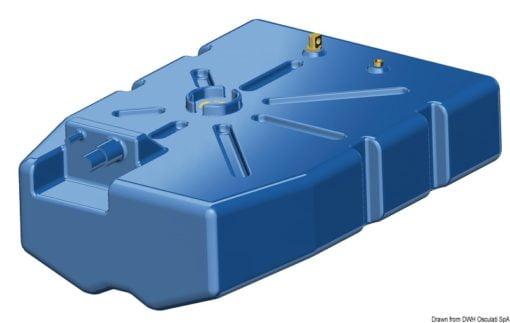 Zbiornik paliwa typu benzyna/ ropa naftowa z polietylenu siatkowego. - Pojemność l 114 - Kod. 52.036.10 5