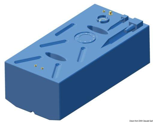 Zbiornik paliwa typu benzyna z polietylenu siatkowego. - Serbatoio Polietilene 315 l benzina/diesel - Kod. 52.039.08 3