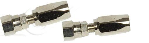 Reusable fittings in chromed brass for 5/16'' hose (kit 4 pcs.) 3