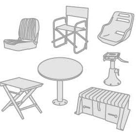 48 - Siedzenia, stoły, nogi, uchwyty i schowki na drobiazgi