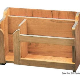 Schowek na drobiazgi ARC z drewna tekowego